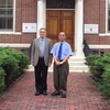 President Yun-han Chu Visited Harvard-Yenching Library Librarian James Cheng