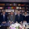 Professor John Rosenfield of Havard University visited the Foundation