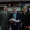 President and Mrs. Sylvain Auroux of Ecole Normale Supérieure de Lettres et Sciences Humaines visited the Foundation