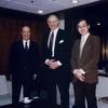 Dean George Burman, School of Management, Syracuse University, visited the Foundation