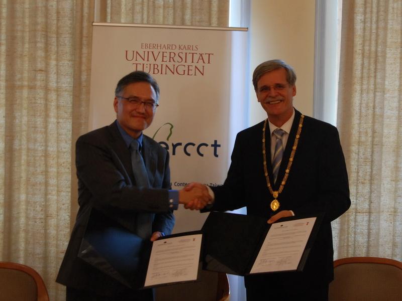 朱執行長雲漢出席「德國杜賓根大學-蔣經國基金會海外中心」開幕儀式並簽約