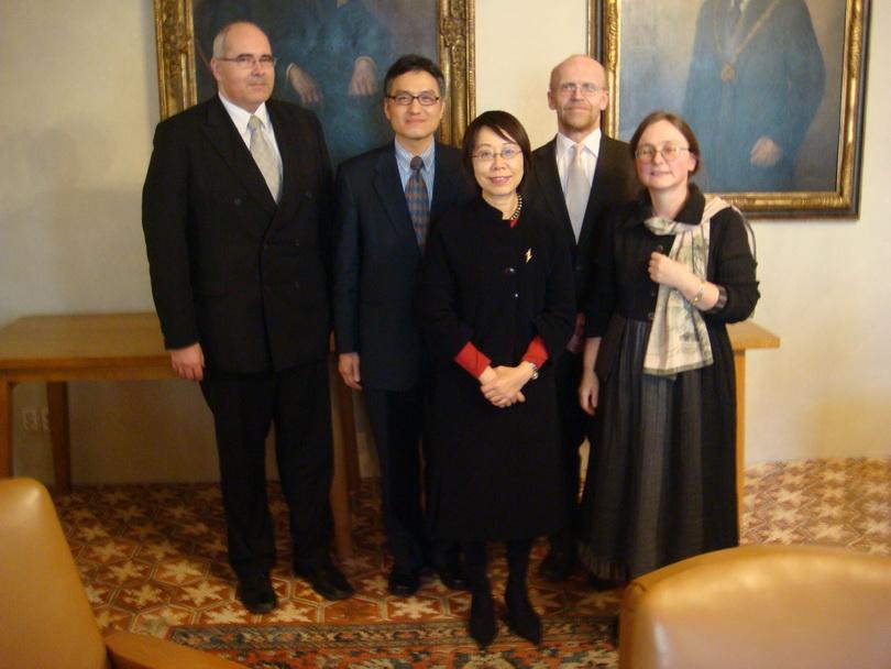 20080329朱雲漢執行長赴捷克查理斯大學訪問