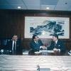 李亦園執行長與亞洲基金會執行長William P. Fuller簽署協定
