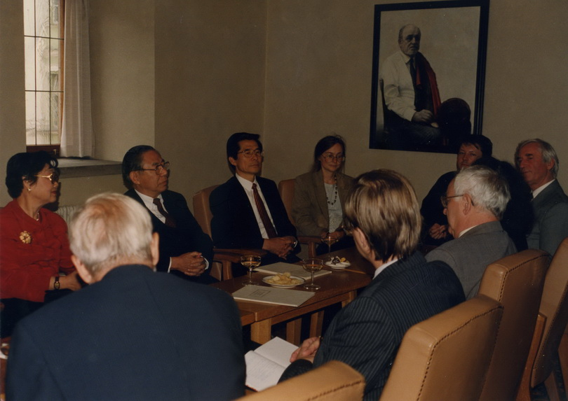 19970928李亦園執行長赴查理斯大學討論設立蔣經國漢學中心事宜