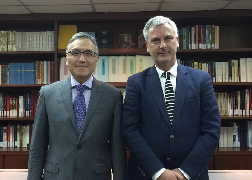 20161007澳洲國立大學亞太研究學院中華全球研究中心主任Dr. Benjamin Penny來訪