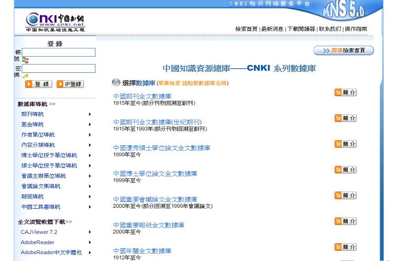 CNKI中國知網